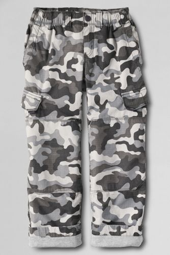Little Boys' Iron Knee® Lined Ripstop Camo Cargo Trousers
