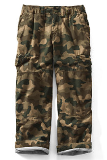 Boys' Iron Knee® Lined Ripstop Camo Cargo Trousers