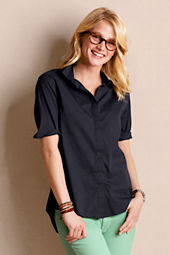 Women's Hidden Placket Button-up