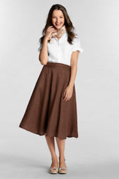Women's Linen Tie-back Skirt