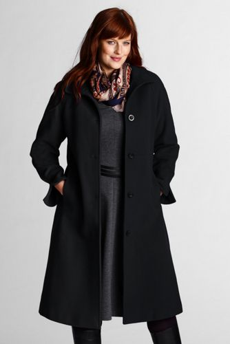 shopping great deals sold worldwide Le Manteau de Luxe en Laine Femme, Grande Taille | Lands' End