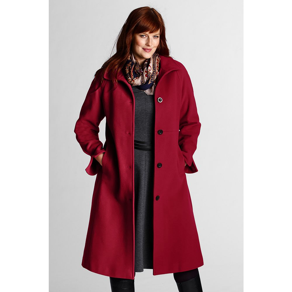 Lands' End Women's Plus Size Wool Coat at Sears.com