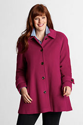 Women's Plus Size Wool Swing Coat