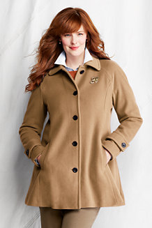 Women's Plus Luxe Wool Blend Swing Coat