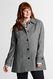 Women's Plus Size Pattern Wool Swing Coat