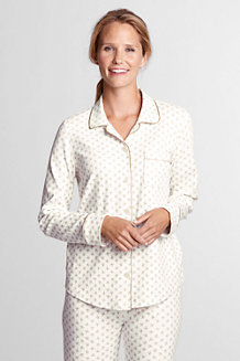 Women's Button-front Jersey Pyjama Top