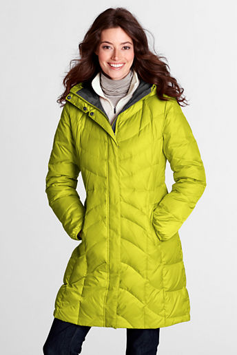 Women's Regular f(x) Down Coat - Bright Lime, L
