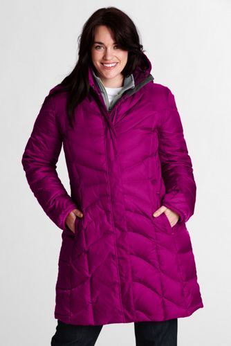 Women's Plus Size f(x)  Down Coat - Bright Magenta, 2X
