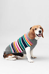 Ribbed Collar Stripe Pet Sweater