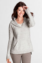 Women's Marl Cotton Hooded Pullover