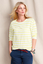 Women's Striped Slouchy Linen Tee
