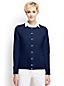 Unifarbener Kaschmir-Cardigan mit rundem Ausschnitt für Damen