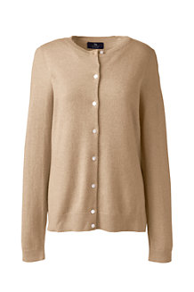 Women's Cashmere Crew Neck Cardigan