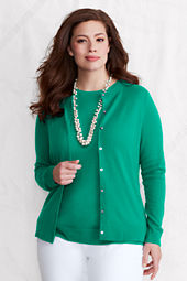 Women's Long Sleeve Classic Cashmere Crew Cardigan