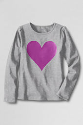 Girls' Long Sleeve Chalkboard Heart Graphic T-shirt