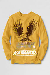 Boys' Long Sleeve Flocked Eagle T-shirt