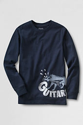 Little Boys' Long Sleeve Foil Guitar T-shirt