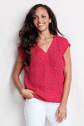 Women's Drop Shoulder Tuck Blouse