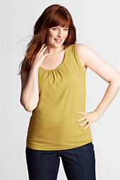 Women's Plus Size Lightweight Cotton Modal Balletneck Tank Top