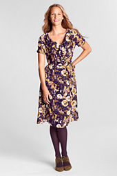 Women's Print Ruffle Front Georgette Dress