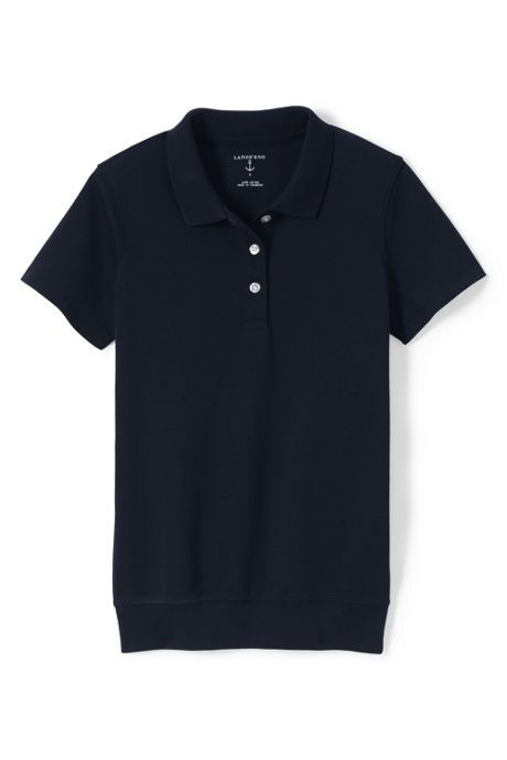 School Uniform Women's Short Sleeve Banded Bottom Polo