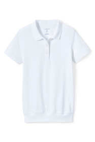 School Uniform Women's Short Sleeve Banded Bottom Polo Shirt