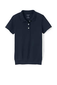 School Uniform Big Kids Short Sleeve Banded Bottom Polo Shirt