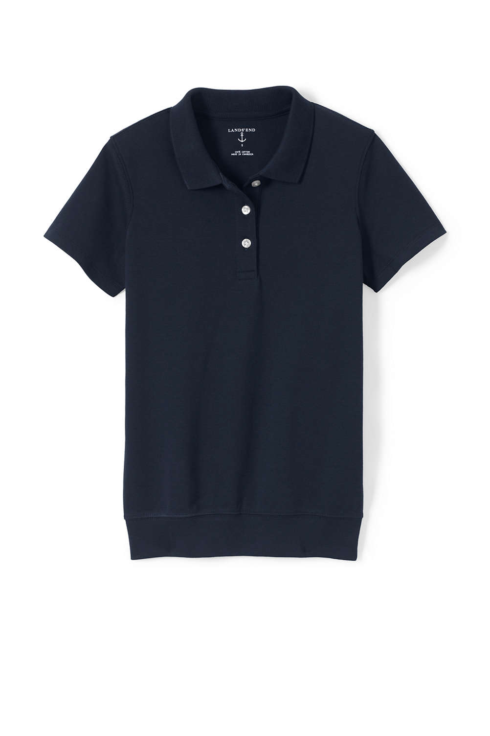 School Uniform Short Sleeve Banded Bottom Polo From Lands End