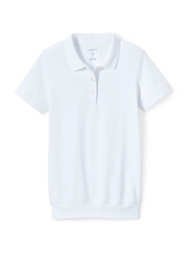 School Uniform Men's Short Sleeve Banded Bottom Polo Shirt