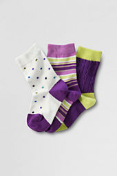 Girls' Pattern Ankle Socks