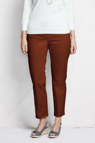 Women's Plus Stretch Ankle Chinos