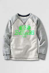 Two Tone Graphic Fleece Crew