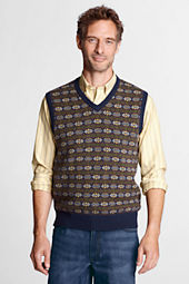 Men's Meridian Cotton Wool Fair Isle Sweater Vest