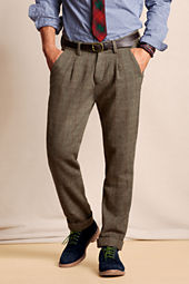 Men's Elston Pleated Wool Pants
