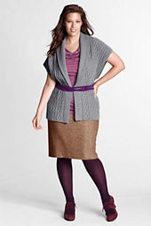Women's Plus Size Paneled Skirt with Kick Flounce