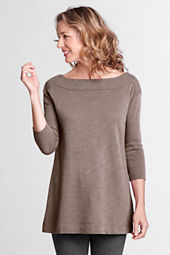 Women's 3/4-sleeve Starfish Boatneck Tunic