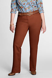Women's Plus Size Exhale™ Tummy Control Straight Leg Stretch Chino Pants
