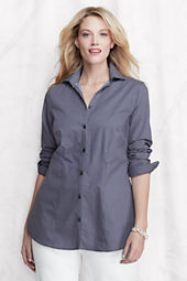 Women's Plus Size Pattern Splitneck Stretch Tunic with Turnback Cuff