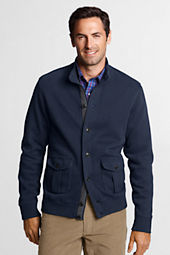 Men's Winter Rib Button Mock Cardigan