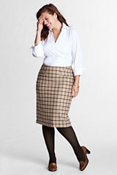 Women's Plus Size Pattern Skirt with Kick Flounce