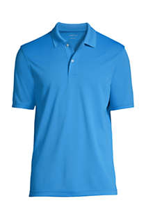 School Uniform Men's Big Short Sleeve Basic Poly Polo , Front