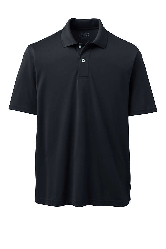 Men's Tall Short Sleeve Polyester Polo, Front