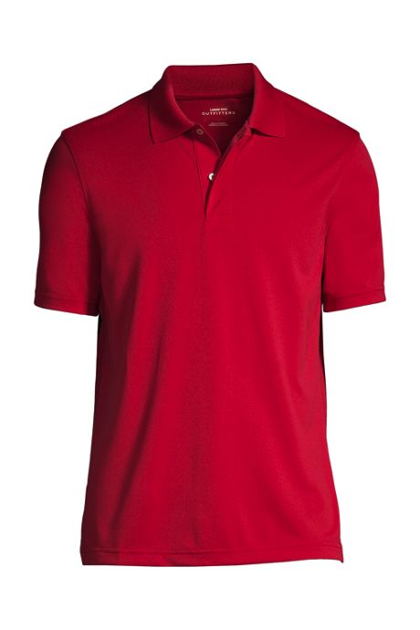 Men's Short Sleeve Basic Poly Polo