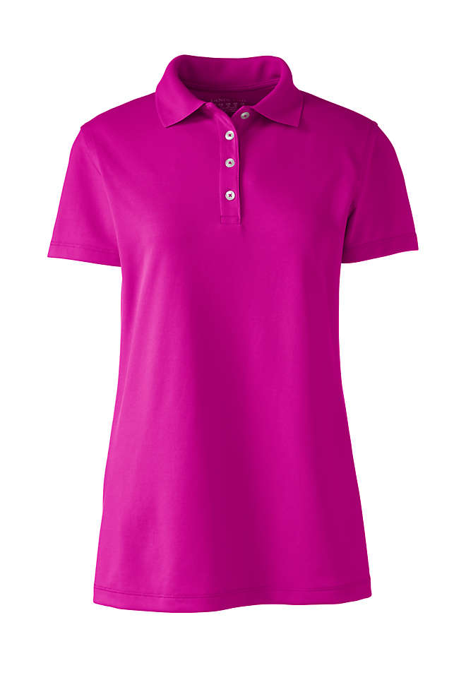 Women's Short Sleeve Polyester Polo Shirt, Front