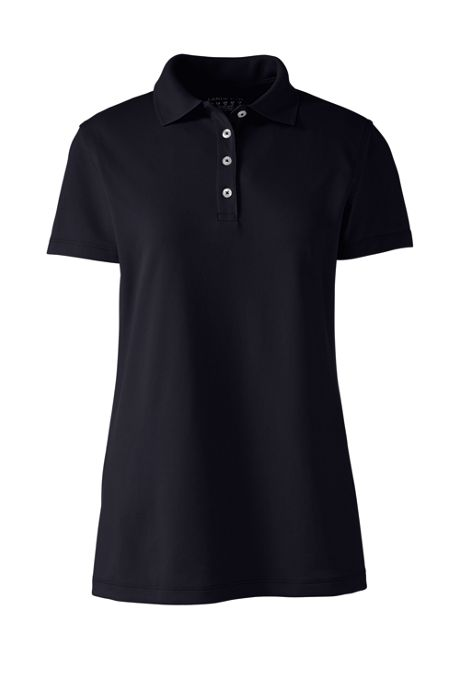 Women's Embroidered Logo Short Sleeve Polyester Polo Shirt