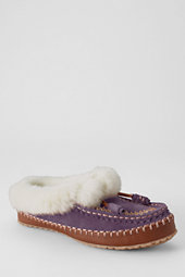 Women's Embroidered Suede Clog Slippers