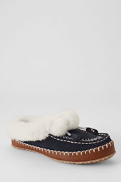 Women's Suede Embroidered Clog Slippers