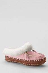 Girls' Suede Embroidered Clog Slippers