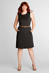 Women's Sleeveless Ponté Sheath Dress with Pockets