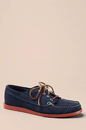 Men's Oak Street Bootmakers Navy Suede Red Brick Sole Trail Oxford